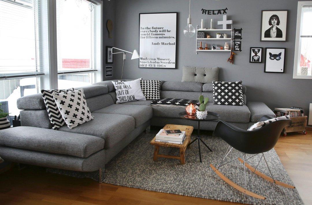 Budstikka   slik innredet hun hjemmet i «shades of grey»