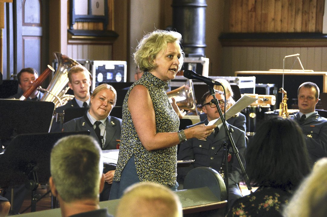 Appell: Marianne Meløy var aktiv gjennom hele festivalen, og kom med en overbevisende appell for Luftforsvarets musikkorps.