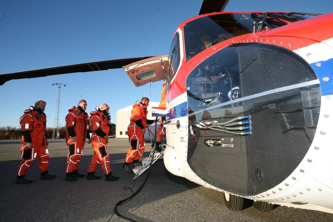 CHC-helikopter i Florø.