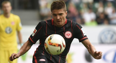 Eintracht Frankfurt's Aleksandar Ignjovski is photographed during the German Bundesliga first division soccer match against VfL Wolfsburg in Wolfsburg, Germany August 16, 2015. REUTERS/Fabian Bimmer