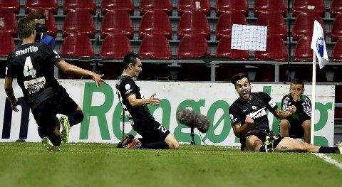 Martin Pospisil og Jablonec jubler etter å ha slått ut FC København i Europaliga-kvaliken, men de får en tøffere oppgave mot Ajax.