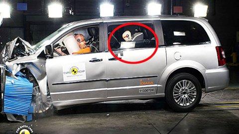 Det europeiske krasjtest-instituttet Euro NCAP tester også sikkerhet for unger i barnesete når de kollisjonstester biler.