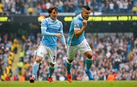 Sergio Aguero (t.h.) og David Silva er begge blant verdens aller, aller beste spillere. Begge kan være tilbake etter skade for Manchester City på lørdag. Det er ikke godt nytt for motstander Liverpool!