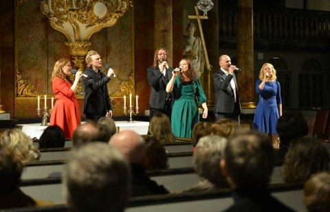 Gruppen PUST skapte julero i Kongsberg kirke.