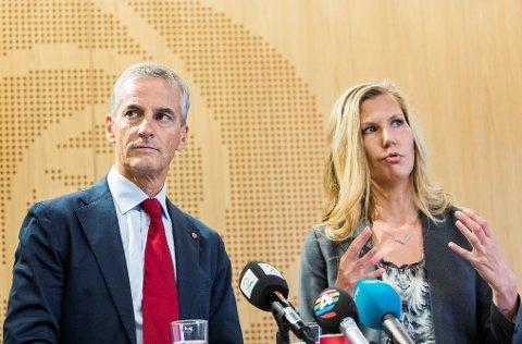 Ap-leder Jonas Gahr Støre og finanspolitisk talsperson, Marianne Marthinsen, har en plan for å møte den økende arbeidsledigheten.