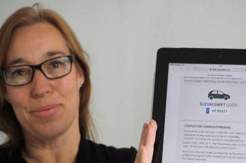 Seksjonssjef Heidi Øwre i Statens vegvesen har gode nyheter til dem som skal kjøpe og selge bil.