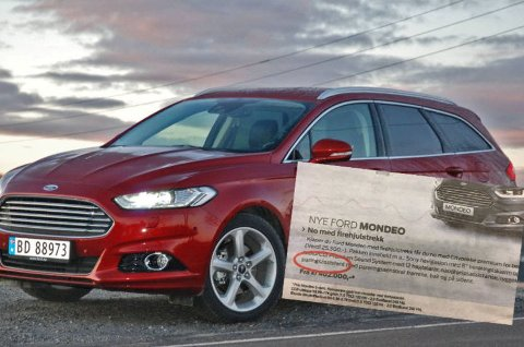 Ford tar ganske utradisjonelle grep for å selge sin nye familiebil Mondeo, i alle fall ifølge denne annonsen som står på trykk denne uken.