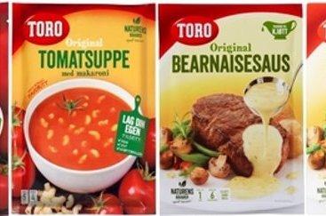 Poser med tomatsuppe og bernaisesaus fra Toro tilbakekalles.