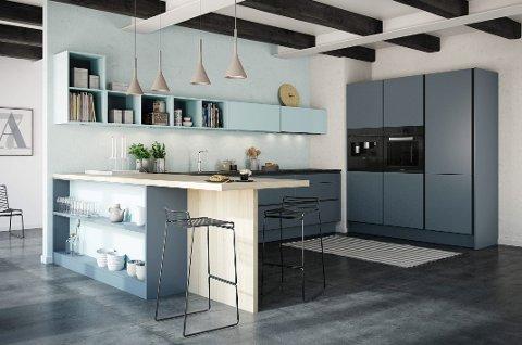 Treverk kombinert med malte flater er en trend. Vi ønsker oss individuelle løsninger.