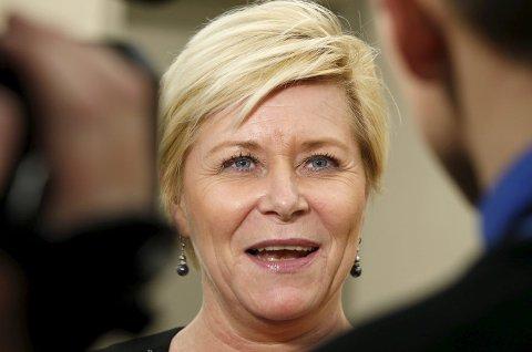 Finansminister og Frp-leder Siv Jensen.