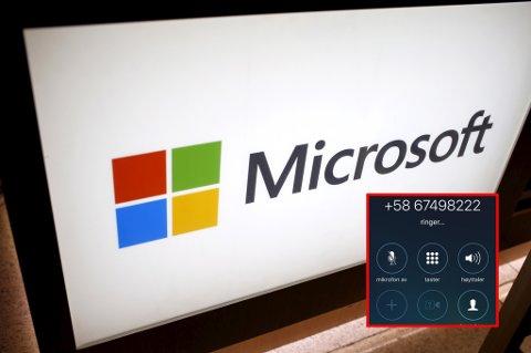 SVINDEL: Ivar Ruud ble oppringt av dette telefonnummeret som fortalte at de ringte fra Microsoft UK. Foto: Mike Segar/Reuters