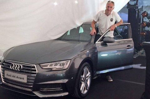 Brooms Benny Christensen fikk muligheten til å stifte nærmere bekjentskap med splitter nye Audi A4, lenge før den offisielle lanseringen i Norge.