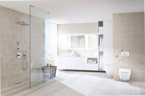 Hele overflater er viktig for et enkelt renhold av badet.
