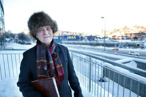 UTVIKLING: Handelstandsforeningen, her ved leder Jan Fredrik Larsen, har studert utviklingen i handel lokalt ved hjelp av SSB-tall.