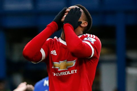 "Football Soccer - Chelsea v Manchester United - Barclays Premier League - Stamford Bridge - 7/2/16 Manchester United's Anthony Martial looks dejected Action Images via Reuters / John Sibley Livepic EDITORIAL USE ONLY. No use with unauthorized audio, video, data, fixture lists, club/league logos or ""live"" services. Online in-match use limited to 45 images, no video emulation. No use in betting, games or single club/league/player publications.  Please contact your account representative for further details."