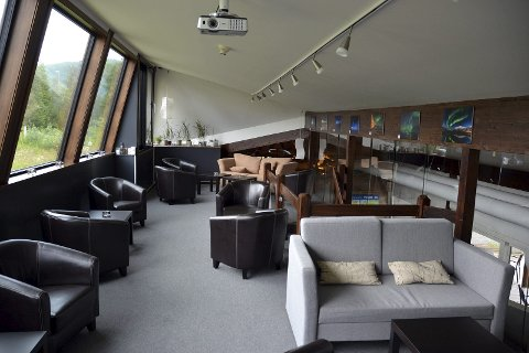 """NORDLYS: Nordlyssalongen """"Aurora lounge"""" i andre etasje, er blitt en suksess."""