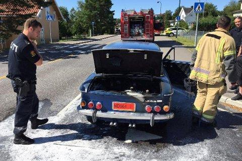 Motoren begynte å brenne under prøveturen. 11 års arbeid gikk opp i røyk.