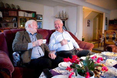 Robert Jakobsen og Charles Klinge hadde mye å snakke om da de møttes igjen.