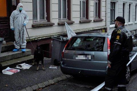 En kvinne ble funnet skadet i Fosswinchelsgate i Bergen i morgentimene ...