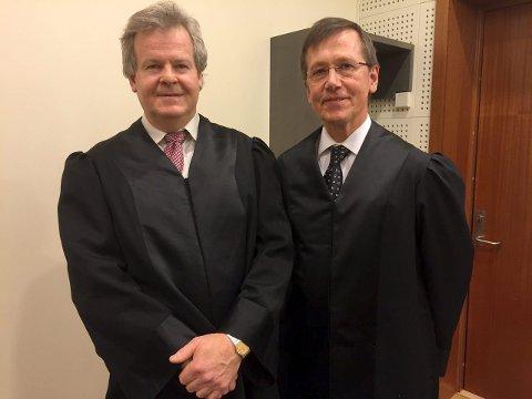 Aktor Nils Vegard (t.v.) og advokat Eivind Bryne vant fram på hver sin måte i lagmannsretten.