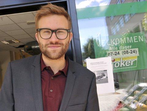ÅPENT: Stefan Heggelund (H) er ønsker søndagsåpne butikker. Nå kaster han inn ungdomsledigheten som et argument for reformen.  FOTO: HELGE RØNNING BIRKELUND, ANB Bildetekst