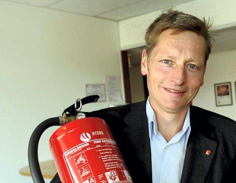 Dagfinn Kalheim, administrerende direktør i Norsk brannvernforening.
