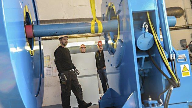 Enorm kraft: Det er enorm kraft i den nye maskinen til Oss-nor, som ble bygget i Skottland.