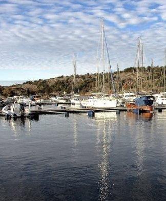 Båthavn: De nye boligene får tilhørende båtplasser.