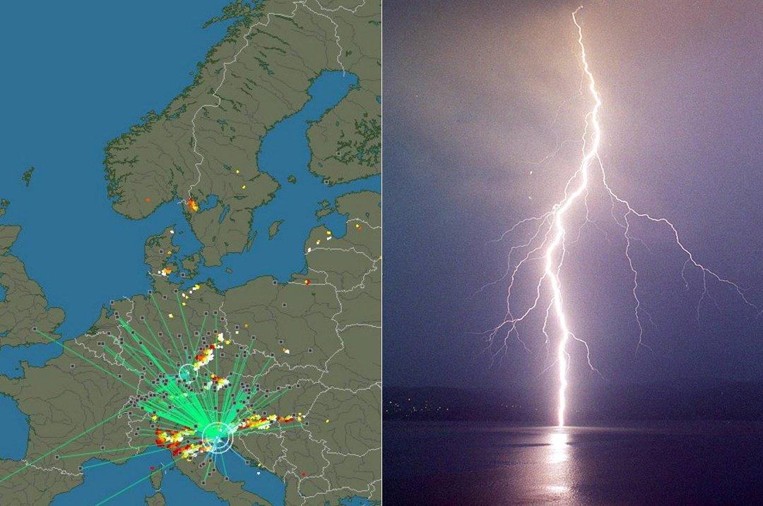 Siste - Se alle lynnedslag i verden direkte