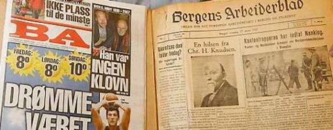 To utgaver av BA; 22. mars 2007 til venstre, 23. mars 1927 til høyre (22.03.2007).