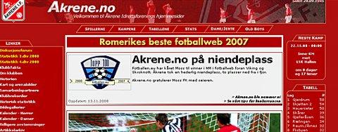 BEDRE UTEN BALL: Åkrene IF er kåret til den 9. beste norske fotballklubben på nett.