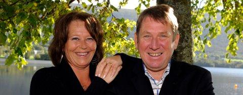 Elisabeth Eide Tharaldsen (FrP) og Arne Havnerås (H) har god grunn til å gle seg over meiningsmålinga.