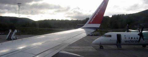 På Harstad/Narvik Lufthavn, Evenes kan man ta ned større fly enn på småflyplassene i Lofoten.