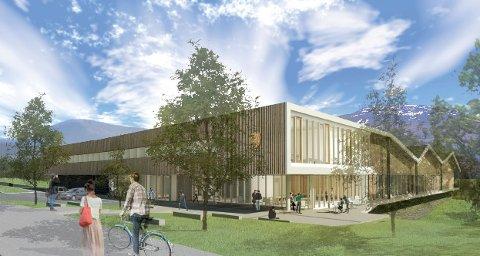 SKISSE: Statsbygg prosjekterer et formidabelt bygg på Tynset.