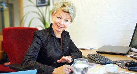FAVORITT: 43 år gamle Kathrine Evensen fra Skien seiler opp som en liten favoritt til å kapre andreplassen på den kommende stortingslisten til Telemark Høyre