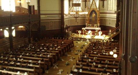 Begravelsen til Bjarne Berg i Johanneskirken.