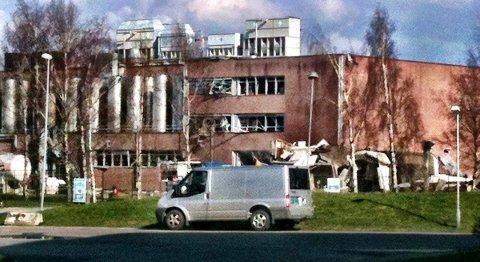 Det var en svært ktaftig eksplosjon ved Mills-fabrikken i Fredrikstad mandag ettermiddag.
