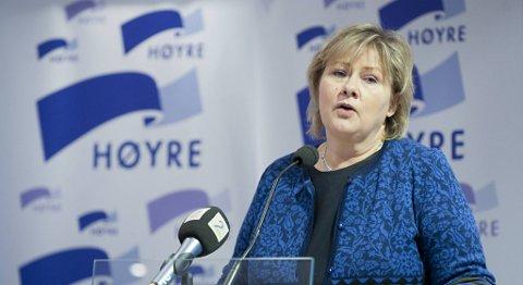 Erna Solberg mener det viktigste i første omgang, er å få en borgerlig regjering hvor Høyre er med.