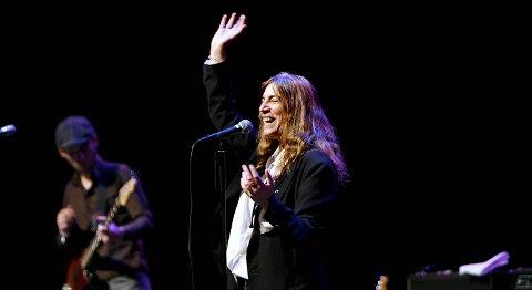 Patti Smith er en av headlinerne på Bergenfest 23. juni. Her fra Grieghallen i 2008.
