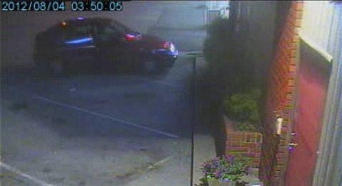 Politiet mener kvinnen ble voldtatt i denne bilen.