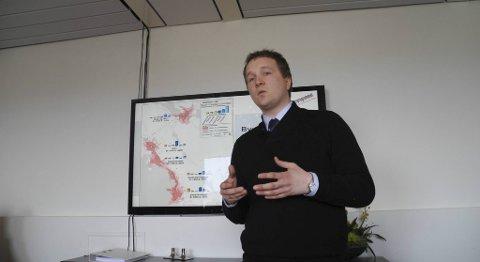 Byråd Filip Rygg la torsdag frem konsekvensutreningen for valg av bybanetrasé til Åsane.