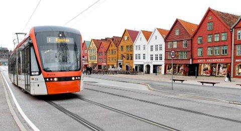 Slik vil Venstre at Bybanen skal gå i sentrum. Nå varsler de omkamp i byrådsforhandlingene om et års tid, dersom det blir borgerlig flertall.