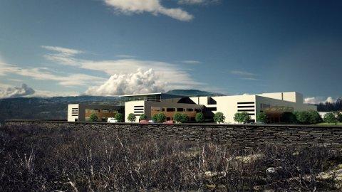 Skisse for det nye sykehuset i Kirkenes. Skisse: Helse Finnmark