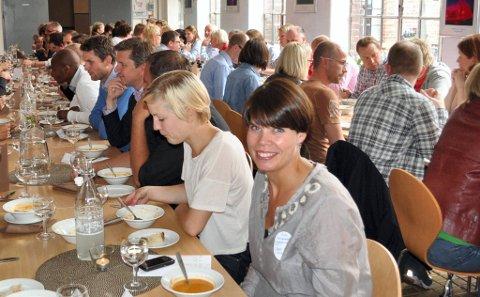 KJEMPEFORNØYD: Gunn Mari Rusten, profileringskoordinator i Gjøvikregionen, var hovedansvarlig for innflyttertreffet.