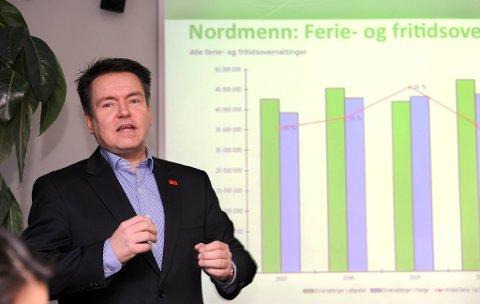 Direktør Per-Arne Tuftin i Innovasjon Norge under onsdagens pressekonferanse.
