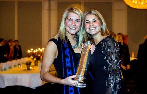 Ada (til venstre) og Andrine Stolsmo Hegerberg ble cuphelter med Stabæk før de reiste til Tyskland. Arkivfoto