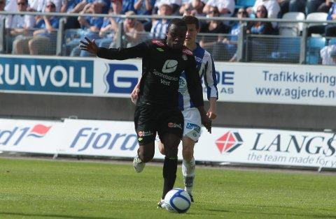 FERDIG: Barry Kader (25) får ikkje fornya kontrakten med Sogndal, og er ferdig i klubben etter årets sesong.