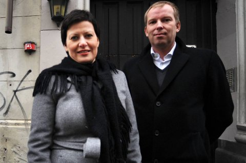 Ap-politikerne Håkon Haugli og Helga Pedersen.