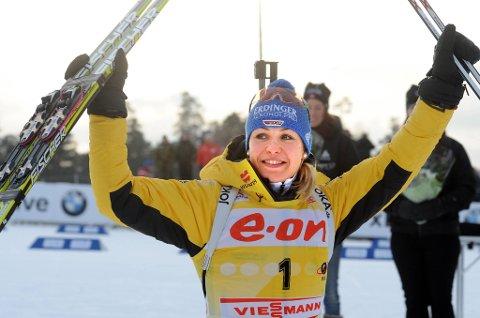Magdalena Neuner vant i Russland.