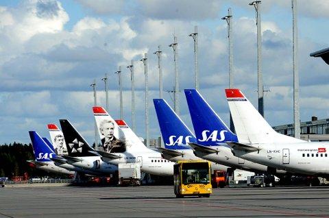 Flyselskapene Norwegian og SAS falt også begge med henholdsvis 1,3 og 0,82 prosent.